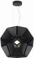 Tech HEX-SUS-BLACK-BLACK Hex Contemporary Black / Black LED Drop Ceiling Light Fixture