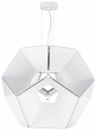 Tech HEX-SUS-WHITE-WHITE Hex Modern White / White LED Drop Lighting Fixture