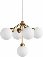 Tech Mara Contemporary Aged Brass LED Low Voltage Mini Chandelier Lamp