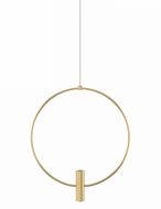 Tech MINI-LAYLA-13-PENDANT-2 Layla Modern Natural Brass LED 13  Drop Lighting