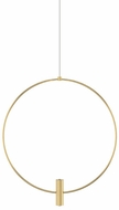 Tech MINI-LAYLA-18-PENDANT-2 Layla Modern Natural Brass LED 18  Ceiling Pendant Light