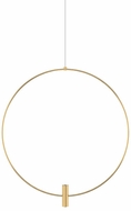 Tech MINI-LAYLA-24-PENDANT-2 Layla Modern Natural Brass LED 24  Pendant Lighting