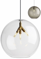 Tech PALLA-PENDANT-CLEAR Palla Contemporary LED Line Voltage Drop Ceiling Lighting