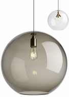 Tech PALLA-PENDANT-TRANSPARENT-SMOKE Palla Modern LED Line Voltage Ceiling Light Pendant