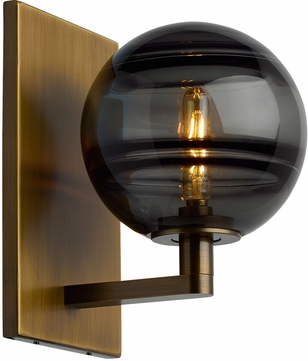Tech Sedona Contemporary Aged Brass LED Wall Lighting Sconce