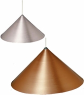 Tech Sky Metal Pyramid Cone Low-Voltage Halogen Art Glass Pendant Light