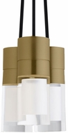 Tech SOPRA-PENDNT-AGED-BRASS-3-LIGHT Sopra Contemporary Aged Brass LED Line Voltage Multi Pendant Light Fixture