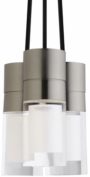 Tech SOPRA-PENDNT-CLEAR-3-LIGHT Sopra Contemporary LED Line Voltage Multi Hanging Pendant Lighting