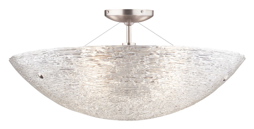 Tech Trace Semi Flush Mount Piped Glass Crystal 23 Inch