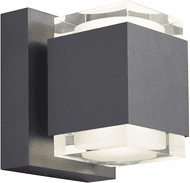 Tech VOTO-6-OUTDOOR-WALL-CHARCOAL Voto Contemporary Charcoal LED Outdoor 6 Wall Light Sconce