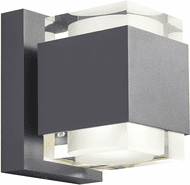 Tech VOTO-8-OUTDOOR-WALL-CHARCOAL Voto Modern Charcoal LED Outdoor 8 Wall Light Sconce