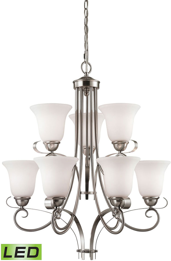 Thomas 1009ch 20 Led Brighton Brushed Nickel Lighting Chandelier