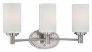 Thomas 190024217 Pittman Brushed Nickel 3 Lamp Transitional Bath Wall Sconce - 19 Inches Wide