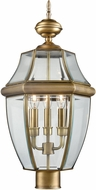 Thomas 8603EP-89 Ashford Traditional Antique Brass Outdoor Lighting Post Light