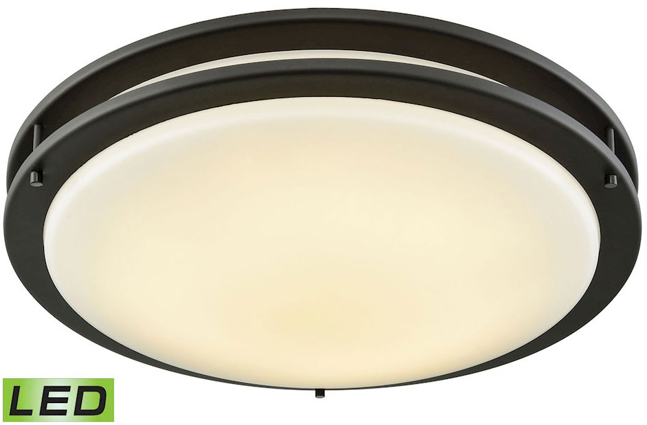 Thomas CL782031 Clarion Oil Rubbed Bronze LED Flush Mount Ceiling ...