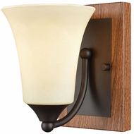 Thomas CN160171 Park City Oil Rubbed Bronze, Wood Grain Wall Lighting Fixture