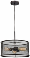 Thomas CN250341 Williamsport Contemporary Oil Rubbed Bronze Drum Pendant Light
