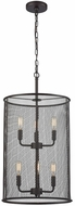 Thomas CN251641 Williamsport Contemporary Oil Rubbed Bronze Drum Hanging Lamp