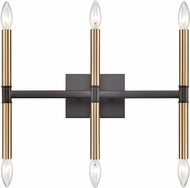 Thomas CN260611 Notre Dame Oil Rubbed Bronze and Gold 6-Light Bath Lighting Fixture