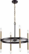Thomas CN260621 Notre Dame Oil Rubbed Bronze and Gold Hanging Chandelier