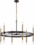 Thomas CN261221 Notre Dame Oil Rubbed Bronze and Gold Chandelier Lighting