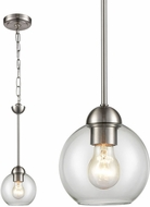 Thomas CN280152 Astoria Modern Brushed Nickel Mini Pendant Lighting