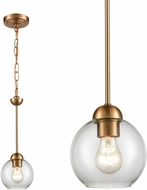 Thomas CN280155 Astoria Modern Satin Gold Mini Pendant Light