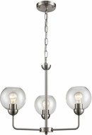 Thomas CN280322 Astoria Contemporary Brushed Nickel Mini Lighting Chandelier