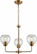 Thomas CN280325 Astoria Contemporary Satin Gold Mini Chandelier Lamp