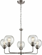 Thomas CN280522 Astoria Modern Brushed Nickel Chandelier Light