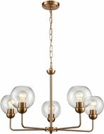 Thomas CN280525 Astoria Contemporary Satin Gold Ceiling Chandelier