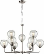Thomas CN280922 Astoria Contemporary Brushed Nickel Hanging Chandelier