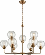 Thomas CN280925 Astoria Modern Satin Gold Chandelier Light