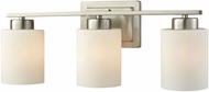 Thomas CN579312 Summit Place Brushed Nickel 3-Light Bathroom Light Fixture