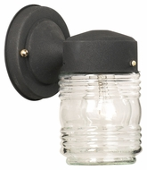 Thomas Lighting SL7157 Outdoor Essentials Traditional Black Finish 7.75 Tall Exterior Wall Sconce