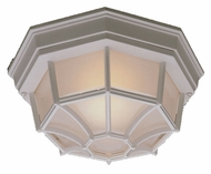 Thomas Lighting SL7458 Outdoor Essentials Matte White Finish 10.5  Wide Outdoor Ceiling Light Fixture