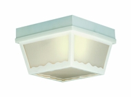 Thomas Lighting SL7578 Plastic Outdoor Matte White Finish 8  Wide Outdoor Ceiling Light Fixture