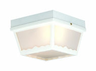 Thomas Lighting SL7598 Plastic Outdoor Matte White Finish 5  Tall Outdoor Flush Mount Lighting