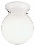 Thomas Lighting SL84368 Ceiling Essentials Matte White Finish 7.5  Tall Flush Mount Light Fixture