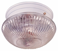 Thomas Lighting SL84408 Ceiling Essentials Matte White Finish 9.5  Wide Flush Mount Lighting Fixture