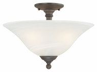 Thomas Lighting SL869663 Riva Painted Bronze Finish 15.5  Wide Overhead Lighting Fixture