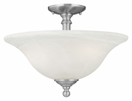 Thomas Lighting SL869678 Riva Brushed Nickel Finish 11.5  Tall Ceiling Lighting