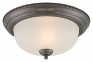 Thomas Lighting SL878215 Ceiling Essentials Oiled Bronze Finish 13.25  Wide Flush Lighting