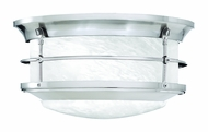Thomas Lighting SL928378 Newport Brushed Nickel Finish 11.25  Wide Exterior Flush Mount Lighting Fixture