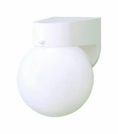 Thomas Lighting SL94358 Plastic Outdoor Matte White Finish 7 Tall Outdoor Wall Light Sconce