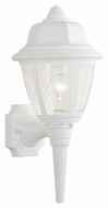Thomas Lighting SL94428 Plastic Outdoor Traditional Matte White Finish 17.5 Tall Outdoor Wall Lighting