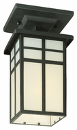 Thomas Lighting SL96657 Mission Craftsman Black Finish 5.5  Wide Exterior Flush Ceiling Light Fixture