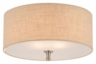 Thomas M271878 Allure Transitional Small 15 Inch Diameter Brushed Nickel Flush Lighting