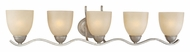 Thomas SL717572 Triton 36 Inch Wide Contemporary 36 Inch Wide Moonlight Silver Finish Vanity Lighting Fixture