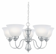 Thomas SL801078 Whitmore 23 Inch Diameter 5 Lamp Etched Glass Hanging Chandelier - Small